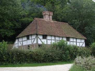 Pendean Farmhouse, timber framed, built 1607.